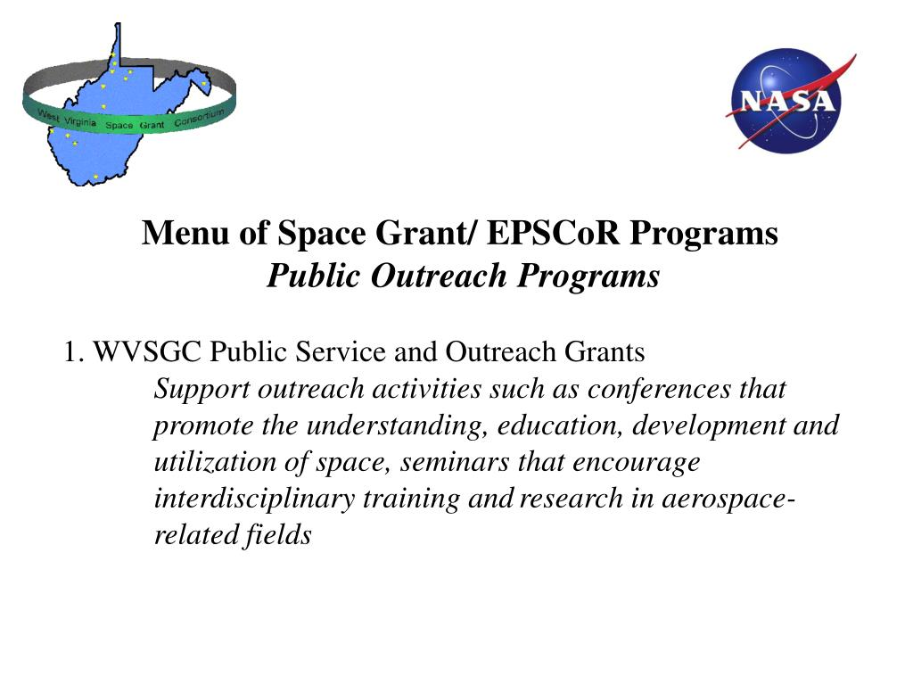 PPT - NASA West Virginia Space Grant Consortium and NASA ...