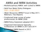 awra and iwrm activities