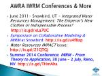 awra iwrm conferences more