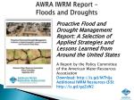 awra iwrm report floods and droughts