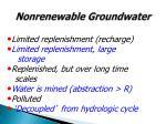 nonrenewable groundwater