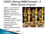 usace moving iwrm forward 2 iwrm awards program
