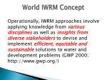 world iwrm concept
