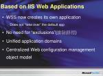 based on iis web applications