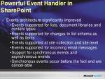 powerful event handler in sharepoint