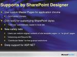 supports by sharepoint designer