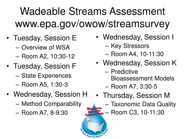 wadeable streams assessment www epa gov owow streamsurvey n.