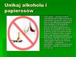 unikaj alkoholu i papieros w