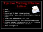 tips for writing effective letters