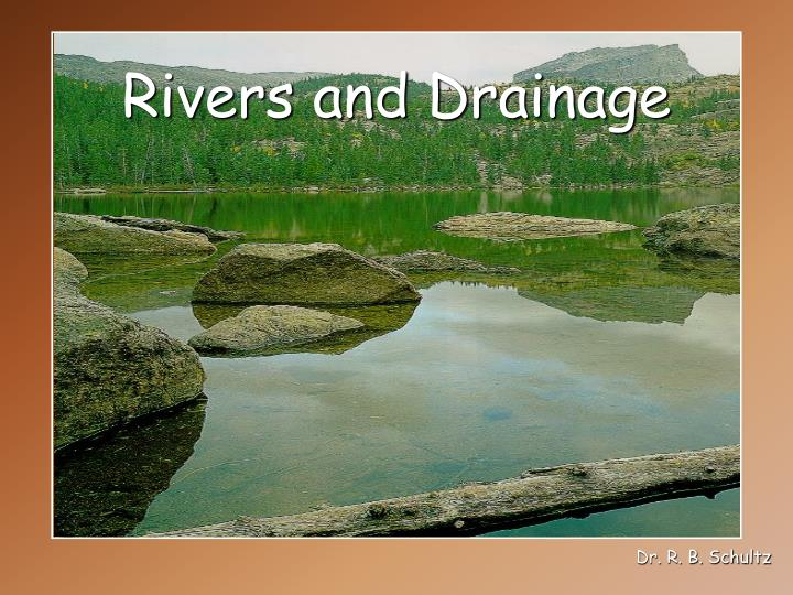rivers and drainage n.