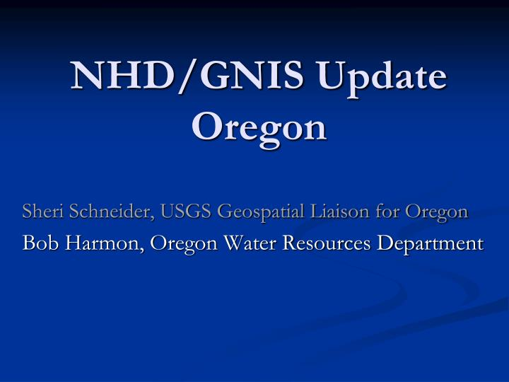 nhd gnis update oregon n.