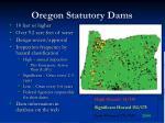oregon statutory dams