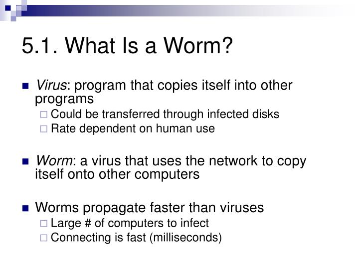 5 1 what is a worm
