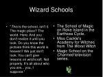 wizard schools