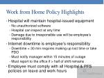 work from home policy highlights2