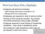 work from home policy highlights3