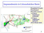 impoundments in caloosahatchee basin