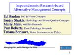 impoundments research based alternative management concepts