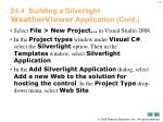 24 4 building a silverlight weatherviewer application cont
