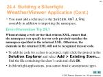 24 4 building a silverlight weatherviewer application cont8