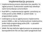 implementacija prozora
