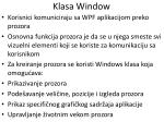 klasa window