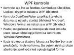 wpf kontrole