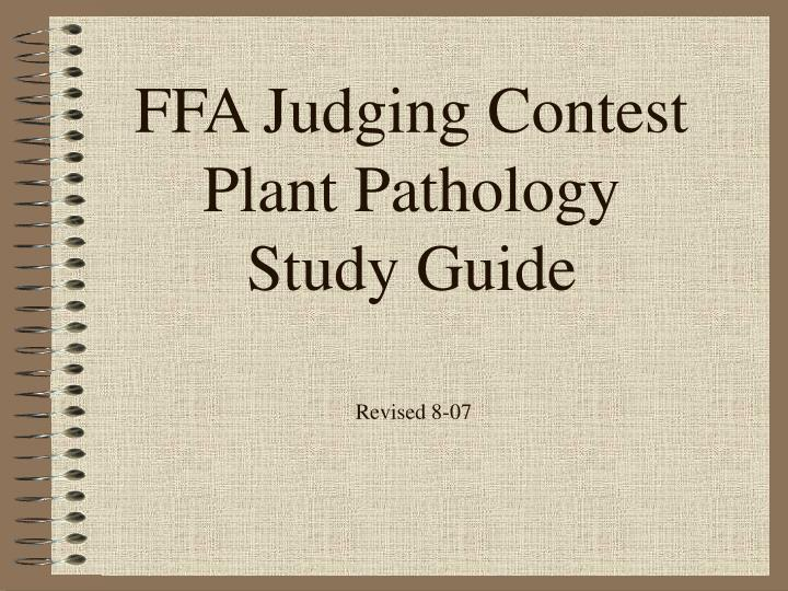 ffa judging contest plant pathology study guide n.