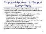 proposed approach to support survey work
