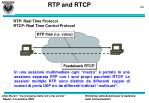 rtp and rtcp