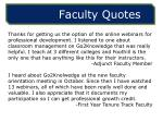 faculty quotes