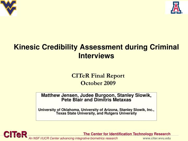 kinesic credibility assessment during criminal interviews n.