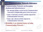 communication networks relevance