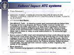 failures impact atc systems