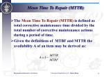 mean time to repair mttr