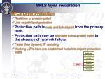 mpls layer restoration
