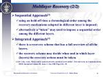 multilayer recovery 2 2