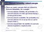 network reliability related concepts