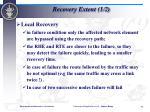 recovery extent 1 2