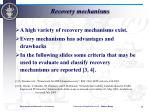 recovery mechanisms