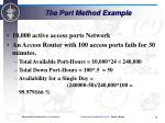 the port method example