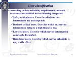 user classification