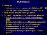 mcs results