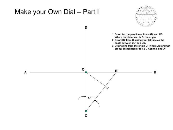 make your own dial part i n.