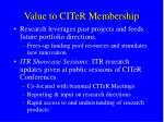 value to citer membership