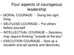 four aspects of courageous leadership