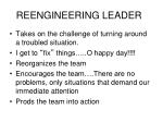 reengineering leader