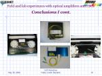 field and lab experiences with optical amplifiers and fbgs conclusions i cont1