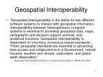 geospatial interoperability