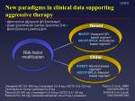 new paradigms in clinical data supporting aggressive therapy